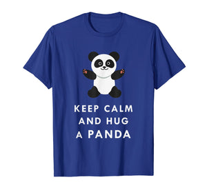 Keep Calm And Hug Cute Adorable Panda Baby Bear T Shirt