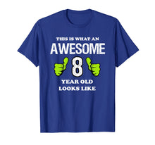 Load image into Gallery viewer, Awesome 8 Year Old Shirt - 8th Birthday T-Shirt