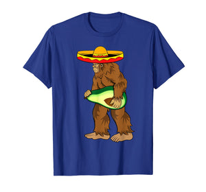 Bigfoot Carrying avocado shirts Cinco de Mayo Sasquatch men