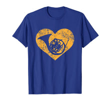 Load image into Gallery viewer, I Love French Horn Heart Shirt Funny Marching Band Jazz Gift