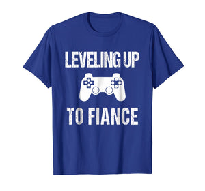 Leveling Up To Fiance Tshirt | New Fiance Video Gamer Tee
