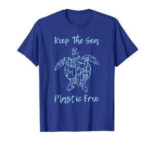 Save Sea Turtle T-Shirt Eco Friendly Anti Plastic Pollution