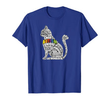 Load image into Gallery viewer, Autism Awareness Cat T Shirt - Gift for Autistic Teacher