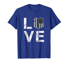 Load image into Gallery viewer, I LOVE Police Shirt Thin Blue Line Law Enforcement Gift Tee
