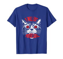 Load image into Gallery viewer, I Will Eat Your Soul Satanic Cat Spooky Halloween T-shirt