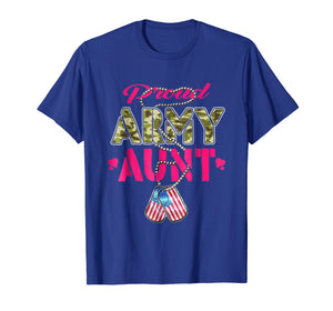 Proud Army Aunt Shirt - Camo Military Family Shirts Gift