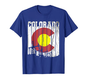Colorado Oilfield Oil Field Rig Worker Distressed T Shirt