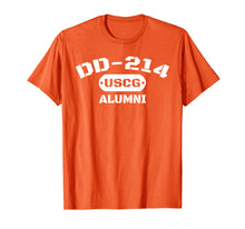 Load image into Gallery viewer, DD-214 US Coast Guard (USCG) Alumni T-Shirt Men and Women