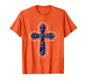 Christian Polka Dot Cross Jeremiah 29:11 T-Shirt