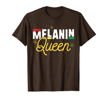 Load image into Gallery viewer, Melanin Queen T-Shirt Black History Month Pride Women Girl
