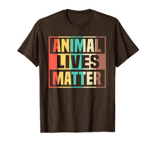 Load image into Gallery viewer, Animal Lives Matter T-Shirt Vegan Gift Vegetarian Shirt
