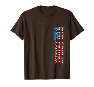 Red Friday Support Our Troops T Shirt For Veterans