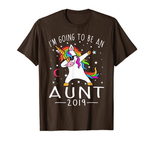 I'm Going To Be An Aunt 2019 Unicorn T-Shirt