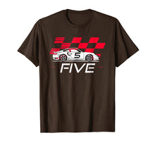 Load image into Gallery viewer, Race Car 5th Birthday T-Shirt Five Year Old Boy Party