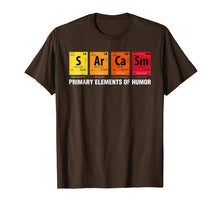 Load image into Gallery viewer, Sarcasm Elements of Humor Periodic Table Graphic T-Shirt