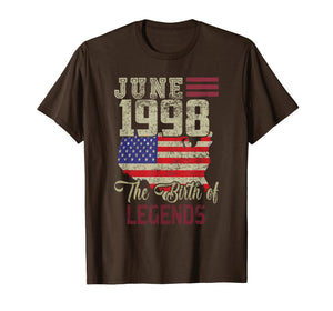 Born In June 1998 Birthday T-Shirt