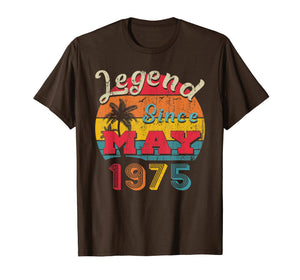 Legend Since May 1975 44th Birthday Gifts Vintage T Shirt