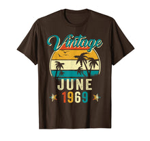 Load image into Gallery viewer, Retro Vintage June 1969 Shirt 50th Birthday Gift