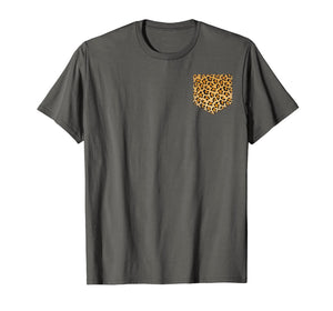 Leopard Print Pocket Shirt | Cool Animal Lover Cheetah Gift