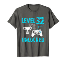 Load image into Gallery viewer, Level 32 Unlocked Shirts For Men 32nd Birthday Gamer Gift