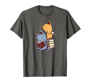 Kittens, Cats, tea and books t shirt