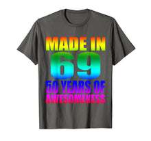 Load image into Gallery viewer, Made in 69 50 years of Awesomeness Watercolor T-Shirt