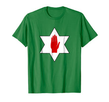 Load image into Gallery viewer, Red Hand of Ulster Star t shirt