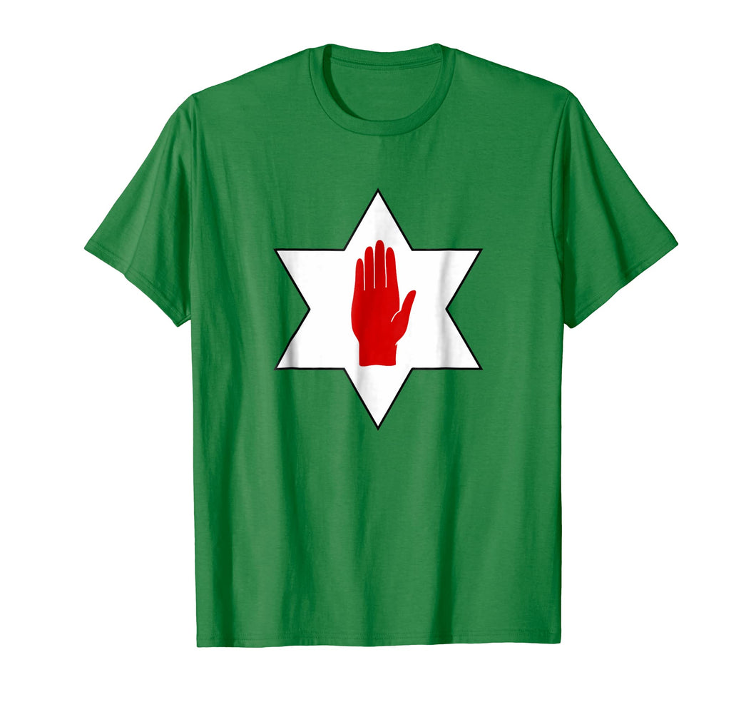 Red Hand of Ulster Star t shirt