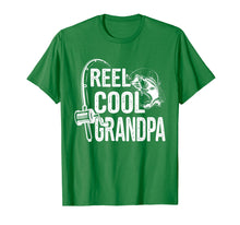 Load image into Gallery viewer, Reel Cool Grandpa T-Shirt Fishing Lover Gift For Fathers Day