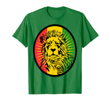Load image into Gallery viewer, Marley Lion Rasta Dreadlocks profile t-shirt