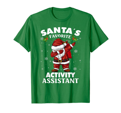 Santa's Favorite Activity Assistant Funny Christmas Dabbing T-Shirt