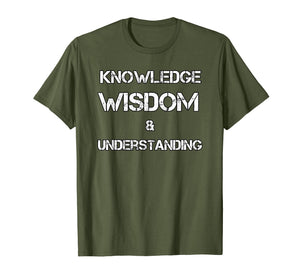 Knowledge Wisdom & Understanding NGE 5 percent t shirt