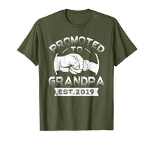 Load image into Gallery viewer, Promoted To Grandpa est 2019 T-Shirt Vintage New Papa Gift