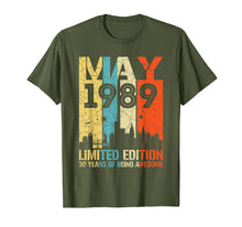 Load image into Gallery viewer, MAY 1989 Vintage Funny 30th Birthday Gift T Shirt