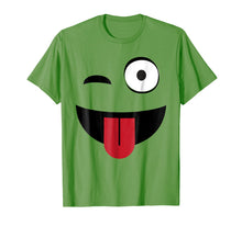 Load image into Gallery viewer, Emoji TShirt One Eye Open Wink Tongue Out