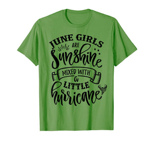 June Girls Are Sunshine Mixed Little Hurricane T-Shirt