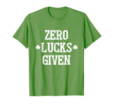 Load image into Gallery viewer, Zero Lucks Given T-Shirt Irish Saint St.Patrick's Paddys Day T-Shirt-1007780