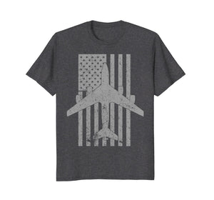 KC-135 Stratotanker Military Aircraft Vintage Flag T-Shirt