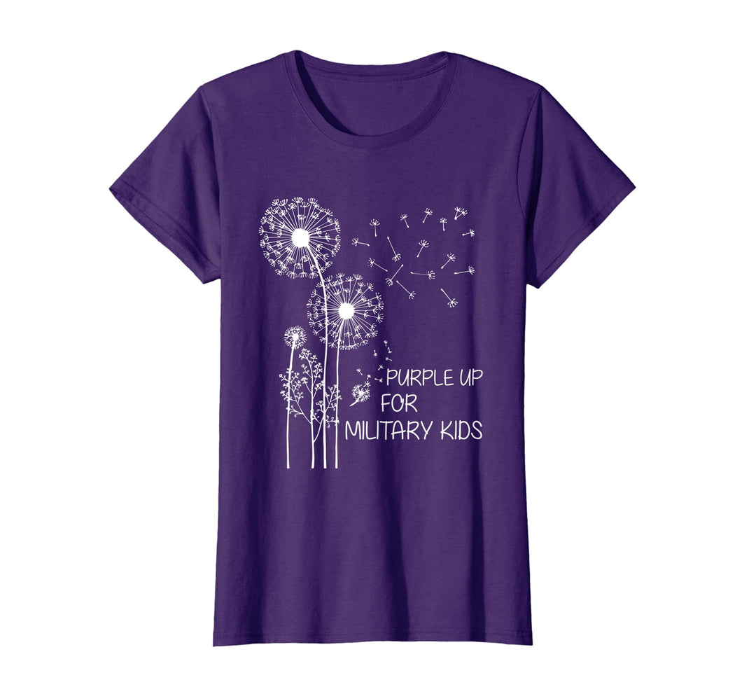Purple Up for Military Kids T-Shirt Dandelion