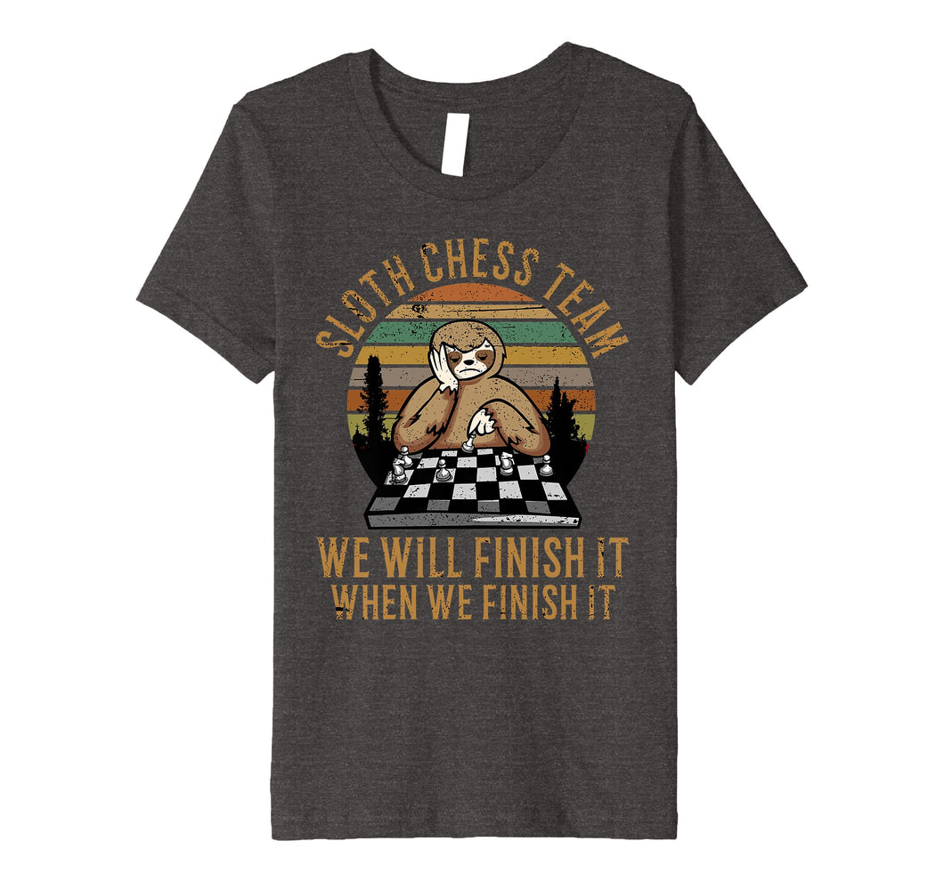 Distressed Sloth Chess Team Funny Slow Chess Players gift Premium T-Shirt