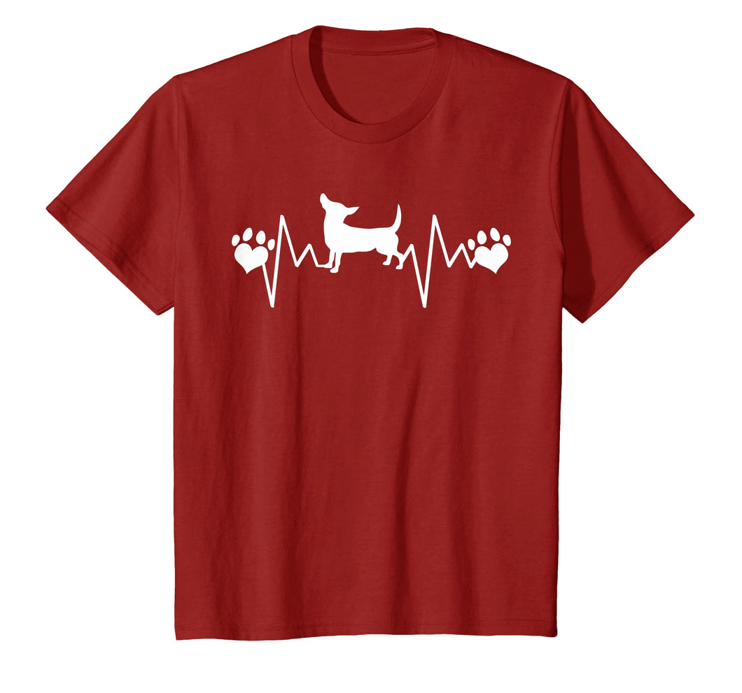 CHIWEENIE DOG LOVE T-SHIRT, Heartbeat Paw Gift Shirt