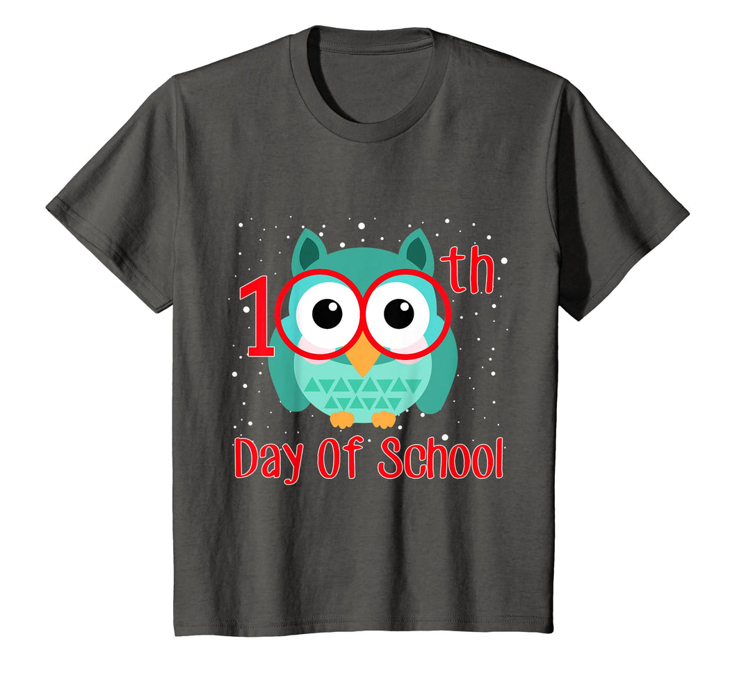 Cute Owl 100th Day Of School T-shirt 100 Days Smarter Tee