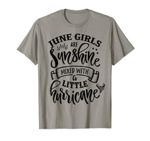 Load image into Gallery viewer, June Girls Are Sunshine Mixed Little Hurricane T-Shirt