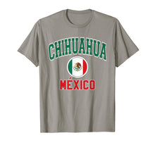 Load image into Gallery viewer, Chihuahua T Shirt - Varsity Style Mexico Flag