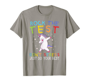Rock The Test Funny School Professor Teacher Joke T-Shirt