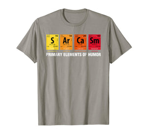 Sarcasm Elements of Humor Periodic Table Graphic T-Shirt