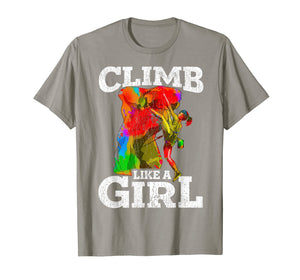 Rock Climbing Bouldering T Shirt Hiking Wall Climber Gift