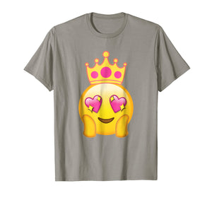 Emoticon Queen Emoji Funny Princess Crown T-Shirt
