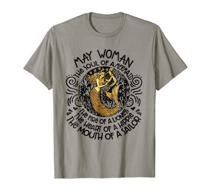 MAY Woman The Soul Of A Mermaid funny Shirt