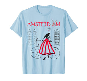 Amsterdam T-Shirt Woman - Amsterdam Bicycle - 5 colors